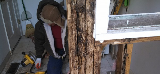 Home wood rot repairs and how bad it can get. By Call 1 Home services 704-614-3420